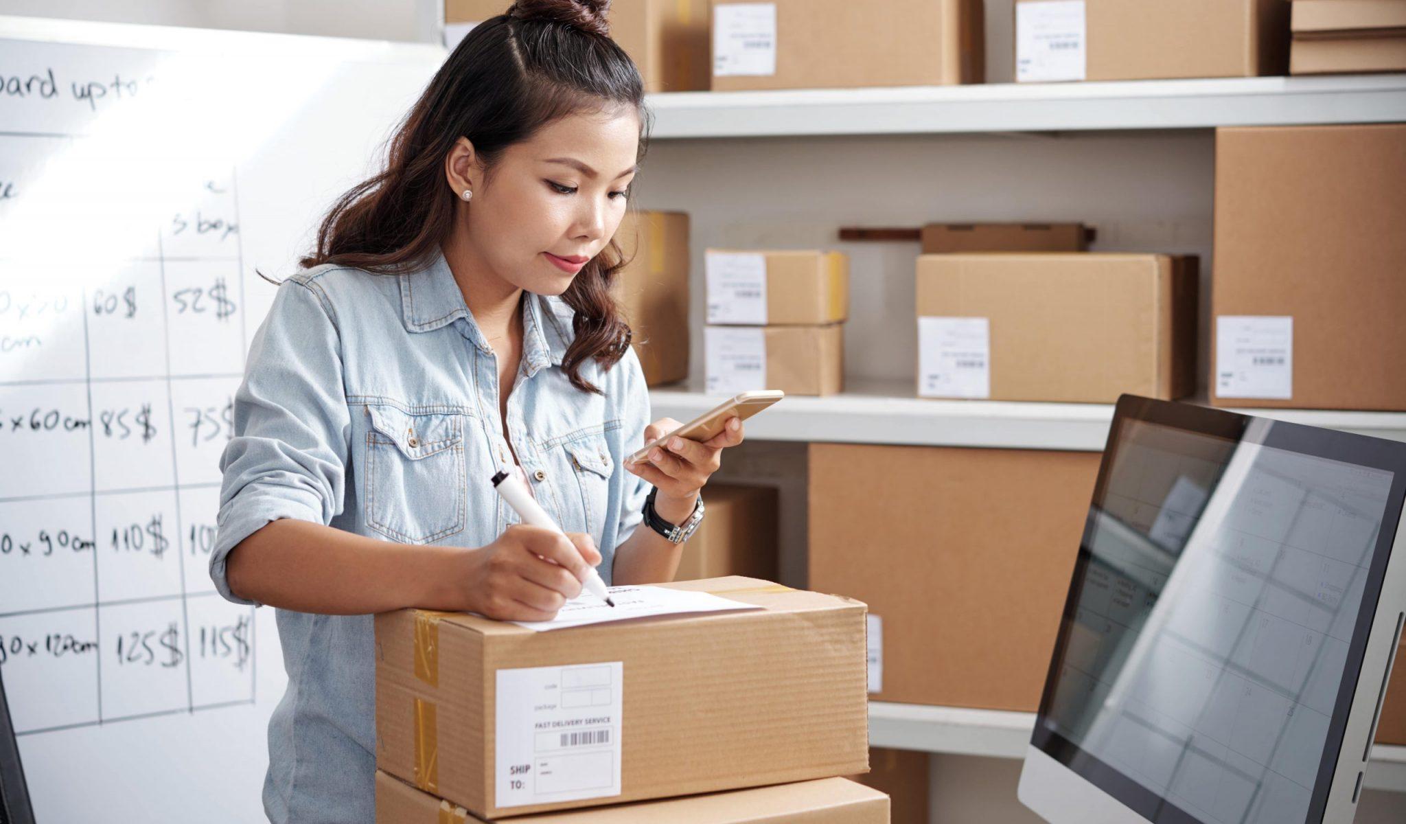 postwoman-working-office-min
